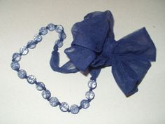 """Spring means navy blue and here you have a pretty RANJANA KHAN NEW BLUE CRYSTAL BEAD 70"""" NECKLACE TULLE JEWELRY https://www.ebay.com/usr/1strangemale"""