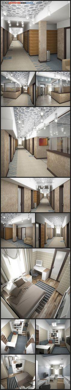 интерьер гостиницы, общежития, вестибюль, коридор, комната, ковровое покрытие, подвесной потолок