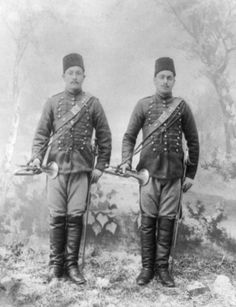 OTTOMAN TRUMPETER SOLDIERS, 1890s