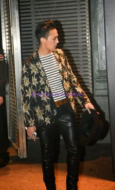 G-Dragon from the Saint Laurent show at Paris Men's Fashion Week 2015