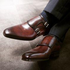 Magnanni | Reinosa Cognac #DoubleMonk #MensStyle #MensShoes www.magnanni.com/shop/reinosa-midbrown