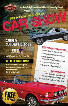 Best More Car Show Flyers Images On Pinterest Car Show Hot Rod - Fun car show ideas