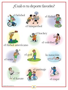 Introduce sports words with this colorful 18 x 24 in. poster that includes a…