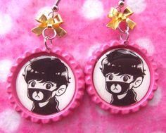 EXO Chanyeol Teddy Bear Kawaii KPOP Earrings by hobbittownjewelry on Etsy