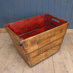 This large authentic vintage wooden French Champagne crate was originally used to harvest grapes and still bears the remnants of the name of the Champagne house stamped on one side.  Made of solid wood, the piece has a great patina. Ideal for storing logs or magazines, it would also make a lovely planter. Better still, fill it with bottles of your favourite bubbly!  #cheshire #reclamation #salvage #antiques #vintage #retro #home #garden #design #furniture #antique #reclaimed #rustic…