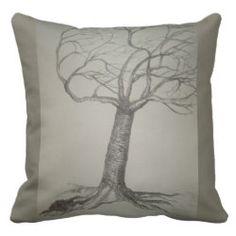 Wendekissen mit Naturmotiv Baum Var 1