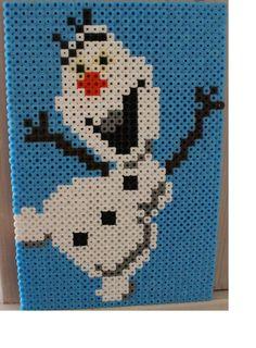 Olaf Frozen hama beads by KRC