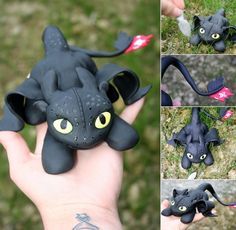 "Yay! Finally! I've made a playful Toothless! I've wanted to make him for quite a while now, but haven't gotten to it. Today I saw ""How to train your dragon"", so now i just HAD to make him. He is th..."
