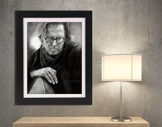Eric Clapton art PRINT of pencil drawing by DrawingIllustration