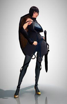 Female Character Render