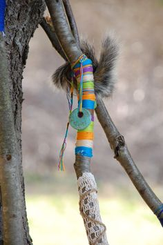 Personalized Walking Sticks - Kids Crafts! decorate with floss.  another great idea