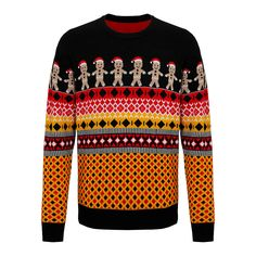 1a109bfd71781 Christmas Gingerbread Man Jumper Ugly Festive Knit Funny Santa Pattern  Sweater T