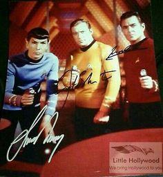 STAR-TREK-8x10-autographed-RP-Lustre-photo-3sigs Star Trek, Legends, Hollywood, Stars, Tv, Movies, Movie Posters, Ebay, Films