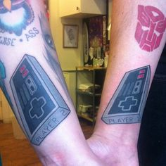 A couple's early wedding gift: Player 1 & Player 2 tattoos