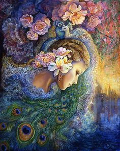Josephine Wall Peacock Daze