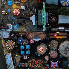 Photographer Jeffrey Milstein leaned out of a helicopter last summer to capture this scene of New York's Coney Island at night. This picture is part of Parks and Recreation, his ongoing series of geometric aerials over public gathering spaces in California and New York. See more from this series at lightbox.time.com. Photograph by Jeffrey Milstein (@jeffreymilstein)—REX/Shutterstock.