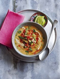 Gently spiced chicken soup http://www.sainsburysmagazine.co.uk/recipes/starters/chicken-and-game/item/https-twitter-com-yorksprovender