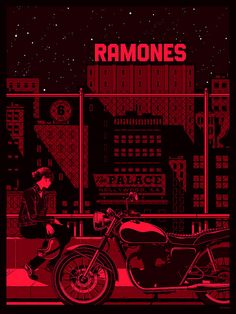 Ramones Screen Printed Gig Poster by Kevin Tong Illustration, via Flickr