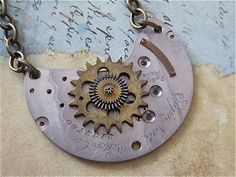 Steampunk Jewelry Necklace  Vintage Pocket Watch by steampunkjunq