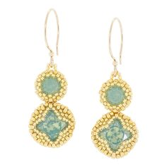 Lucite® Green Earrings   Fusion Beads Inspiration Gallery