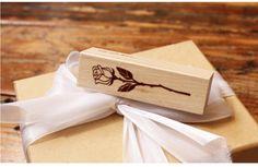 """Stempel  DIY  """"rose"""" scrapbooking von Schmuck, Ohrringe, Halsketten, Armbänder auf DaWanda.com"""