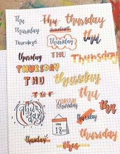 Looking for the best bullet journal fonts, headers and letterings for each day? Here are endless creative bujo ideas that you can use from Monday to Sunday! Bullet Journal Headers, Bullet Journal Lettering Ideas, Journal Fonts, Bullet Journal Notebook, Journal Themes, Bullet Journal Ideas Pages, Bullet Journal Inspiration, Journal Layout, Bullet Journal Aesthetic