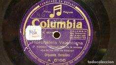 PIZARRA !! ORQUESTA HEREDERO. HORCHATERA VALENCIANA / LA COMPARSITA / COLUMBIA - 25 CM.