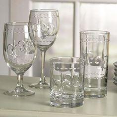 fleur- de-lis glassware