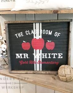 Teacher's Classroom Wood Framed Sign – 18×21 #arworkshop www.arworkshop.com
