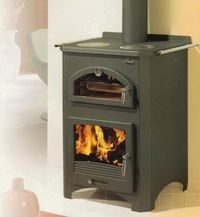 stove with pizza oven | ... | Bradley Stoves Sussex Ltd | Wood Stove makes Perfect Pizza Oven
