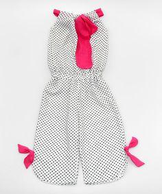 Love this White & Black Polka Dot Jumpsuit - Toddler & Girls on #zulily! #zulilyfinds