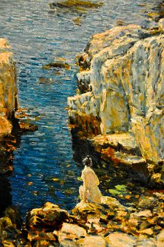 Childe Hassam - Isles of Shoals, 1912 at the Virginia Museum of Fine Arts (VMFA) Richmond VA