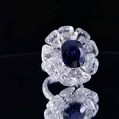 QIU Fine Jewelry, soaked in by this gorgeous Burmese No Heat Royal Blue Saphhire, no matter how huge your closet is, but only the real stuff stay forever! Since last year, majority of my creations related to Sapphire all combines with Rose cut diamond ! #london#hongkong#qiufinejewelry#qiufinejewelrys...