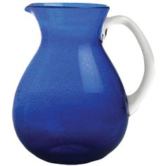 Hand-blown Glass Pitcher, 64 oz made by Garden Party Hostess.