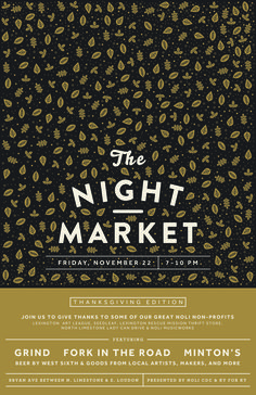 The Night Market Poster #posterprinting #a3poster