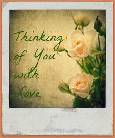 Photograph Blank Greeting Card Thinking of You With by MYSAVIOR, $3.50