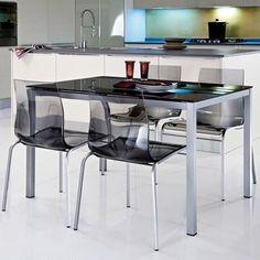 Table rectangulaire + allonge - L120/180xl80xH75cm FIONA