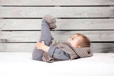 It's so helpful to have a matching sweater and booties.  This should be the new layette!