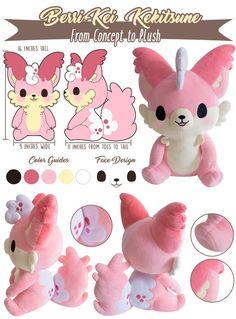 Kekitsune 'Cake Foxes' & Friends Plush by Tasty Peach Studios — Kickstarter