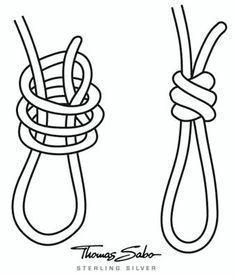 Bracelet loop knot . . . . ღTrish W ~ http://www.pinterest.com/trishw/ . . . . #handmade #jewelry #knotting #jewelrymakinghacks