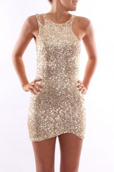 Bright Lights Dress Gold - Dresses - Shop by Product - Womens
