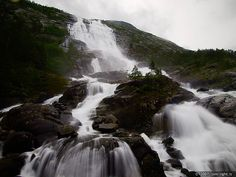 Langfoss Falls in Norway!  I'm such a Waterfall Junkie!!!