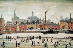 Buy stunning Northern River Scene 1930 oil painting reproductions on canvas. Museum quality hand-painted L-S-Lowry replica canvas. Salford, Photo To Oil Painting, Framing Canvas Art, Spencer, English Artists, Oil Painting Reproductions, Modern Art Prints, Artwork Design, Pictures To Paint