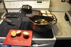 Hot German Potato Salad - Instructables Smoky Bacon, Red Skin, Vidalia Onions, Sliced Potatoes, Salad Dressing, Mayonnaise, Potato Salad, Oven, German
