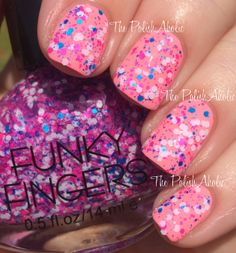 SOLD Funky Fingers Saved By The Glitter (over China Glaze Feel The Breeze)  - BN, unused - $4 + s/h