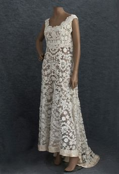 This gown dates to circa 1912