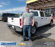 Happy Anniversary to Justin Shook on your 2012 #Chevrolet #Silverado 1500 from Katie Butler  and everyone at Lake Country Chevrolet Cadillac!