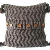 Aran Zig Zag Cable Cushion/Pillow - via @Craftsy