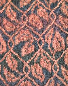 Ravelry: Ithilien Brocade stitch pattern pattern by Sharon Barnes. This would look beautiful on a throw or pillow.