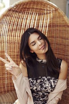 Everyday glamour: On Sunday Kendall took to Twitter to promote her new line with sister Ky...